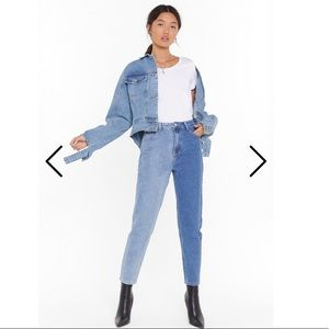 Two tone mom Jeans